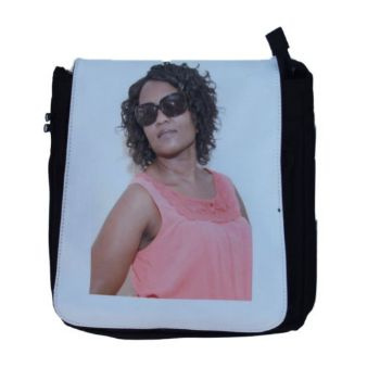Personalised Ladies Shoulder Bag Medium - Black